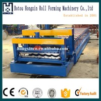 Aluminum glazed tile profile making line for roof sheet ,cold bending construction machinery