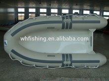 china 2015 fábrica de material de pvc inflable nuevo diseño de fibra de vidrio del barco con remos