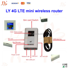 LY 4G LTE mini wireless router with 5200mAh power bank function with SIM card, hot sale !