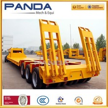 China Semi trailer type and high tensile steel material 3axles heavy duty dolly vehicle dolly carrier low bed tow dolly trailer