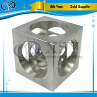Custom fabricated Al 6061 Cnc Aluminium Cube With Centered Screw