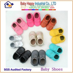 Mix 10 color wholesale cheap leather moccasin baby shoes