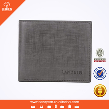 Hot Sell Trendy Desiger Gray Genuine Leather Man Coin Wallet Purse
