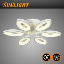 Silver contemporary acrylic epistar Unique design and modern residential LED ceiling light for hotel room