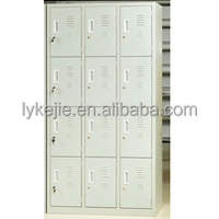 KD 12 Doors Steel Locker Metal Storage Cabinet Cupboard Clothes Armoire with aluminium alloy handlefor golf club