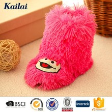 fluffy knitted wool shoes for baby