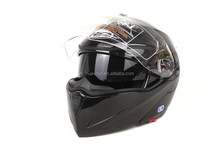 JinHua HuaDun dot standard flip up motorcycle helmet with two visor