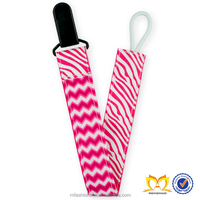Newest Design 2 Sides Design Soother Holder Toddler Zebra Nipple Leash Strap Chain Clip Holder Universal Baby Best Pacifier Clip