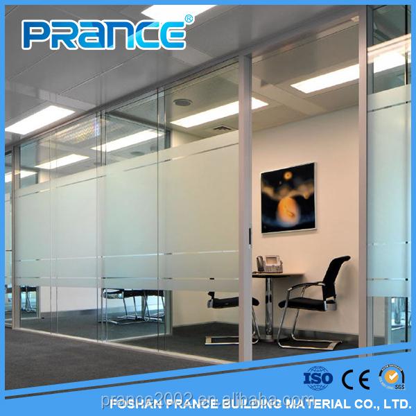 Agente de China precio del vidrio esmerilado de la pared de cortina de cristal de partición