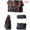 man messenger bag, retro vintage man messenger bag with canvas patchworked genuine leather