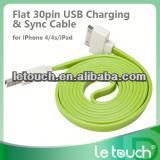 Hot sale colorful laptop usb to tv usb cable for ipad/iphone with charge and sync