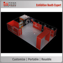 Personal customized trade show booth exhibit display, aluminum alloy exhibition booth stand