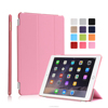 12 Colors Multicolor Soft PU Leather Tripled Folded Case Flip Cover for iPad Air 2 with Auto Wake Up Function
