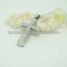 Stainless Steel Matt Polished Cross Pendant