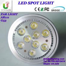 9W led ar111 gu10 led spot light 10 degree high power led spotlight ar111 led