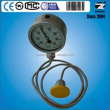 4 inch caterpillar hydraulic pressure gauge bar with diaphragm ss316 tantalum titanium ect