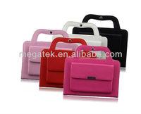 Tablet case cover Handbag leather case for ipad mini, for ipad case handle,for ipad mini case leather