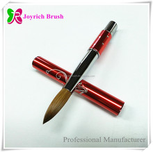 Aluminium Red Kolinsky Brush Nail Acrylic Customize Pen Brushed Metal