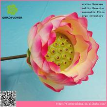 grandes cabezas de flores artificiales de la tela de flor de loto de plástico madre