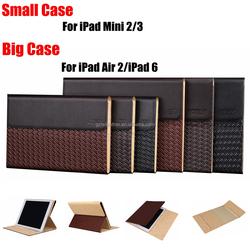 Wholesale 100% Handmade Pattern Leather Case For iPad Mini 2/3