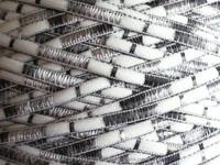 Nylon ladder ribbon fancy knitting yarn