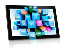 "21.5 "" Android WiFi Internet Advertising Player large size digital signage digital photo frame"