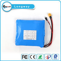 Lithium 18650 battery 1S1P 2200mah 3.6V battery pack for unicycle