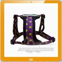 fluorescent xxl mesh pattern dog harness backpack