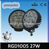 27w round super bright led working light, auto led work light, led tractor light RGD1005