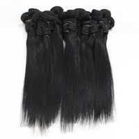 "New fashion silky straight virgin indian hair weft 18""natural color"