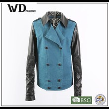 Online shop China, women cheap faux leather jacket