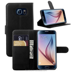 Hot Selling Luxury Stand Leather Flip Case for Samsung Galaxy S6, Leather Case with Card Holder