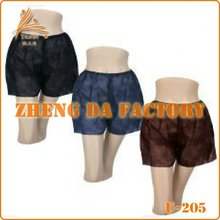 Non Woven PP Disposable Man Short Boxer brief for spa beauty and message