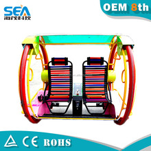 2015 canton fair play Crazy balance happy car card system arcade outdoor fitness equipment rides leswing happy car