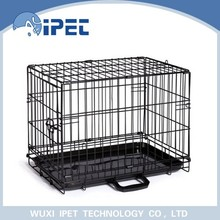 Ipet medium foldable metal solid pet crate kennel for dogs
