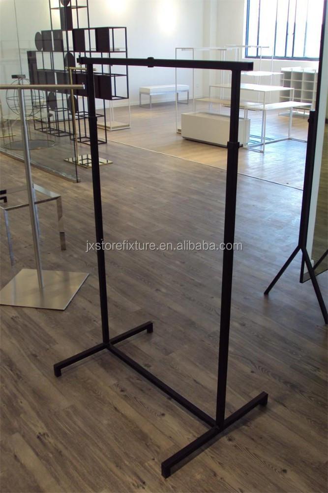 barra de colgar ropa estante, tubos de metal estante para exhibición