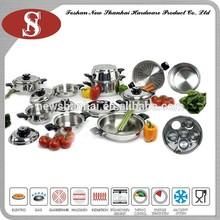 23 unidades de cocina de acero inoxidable juego de ollas