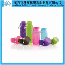 Squeezable silicone travel bottle/Empty travel size bottles/Food grade silicone travel bottle