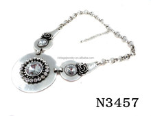 N3457 Fashion Charming Vintage Crystal Pendant Necklace