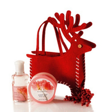 Hot Red Christmas Xmas Deer Make Up Cosmetic Gift Bag Holiday Birthday Present Handbag New