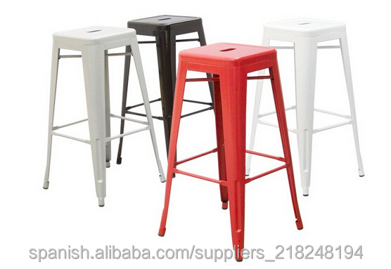 Tolix bar restaurant 61cm hauteur tabouret chaises en for Hauteur table bar cuisine