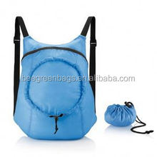Integrated drawstring bag design waterproof draw string bag backpack with zipper FSS