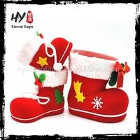 new microfiber products plastic christmas boot, christmas santa boot, gift boot