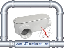 Electrical Metallic Tubing Aluminum LR Set Screw Conduit Body