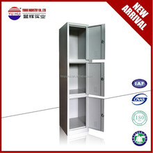 easy to install folding 3 layers steel locker wardrobe cabinet