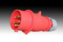 TIBOX IP44 waterproof 3P+E+N 32A electric plug&socket&connector Industrial plug and socket