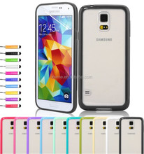Transparent Back Silicone TPU Bumper Case For Samsung Galaxy S5