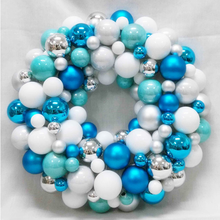 plastic ball wreath christmas decoration