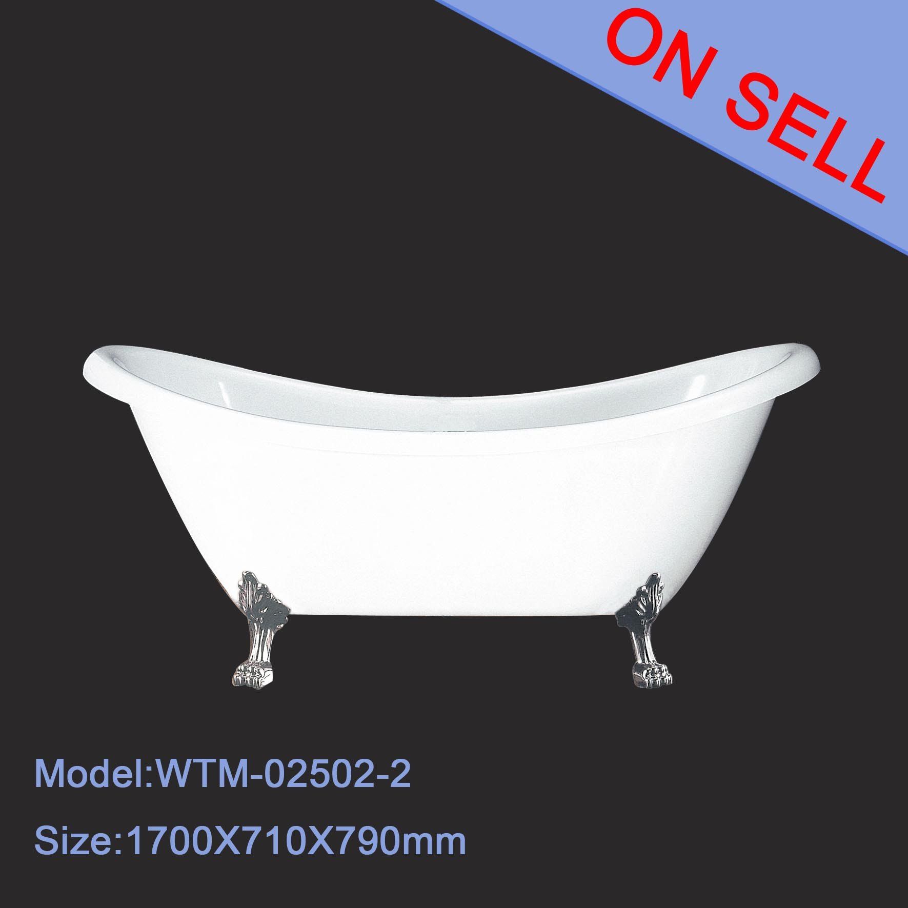 The Cheapest Clawfoot Tubs Acrylic Double Slipper Bathtub Buy Clawfoot Tubs