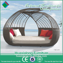 Patio rattan furniture sex round chaise lounge chairs FWB-205